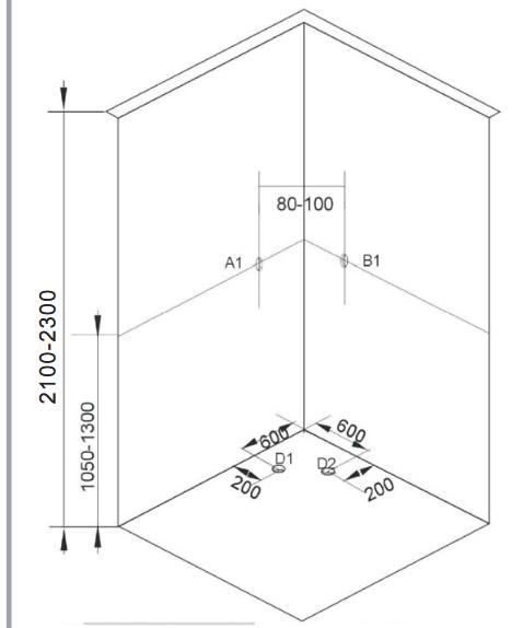 Sprchový box SKY 1  90x90x225 (CL73)