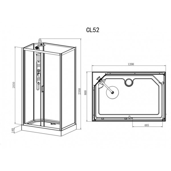 Sprchový box EPIC 3  120x80x235 (CL52)