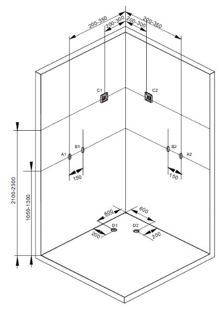 Sprchový box TREND 3 120x80x210 (CL72)