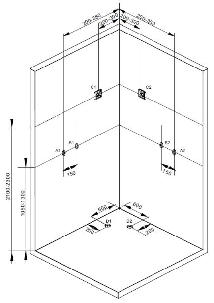 Sprchový box TREND 2  90x90x210 (CL71)