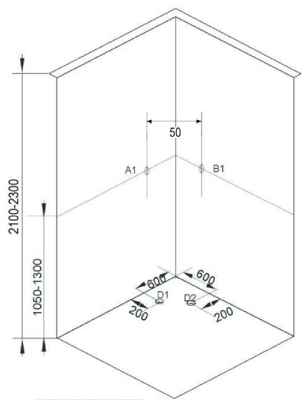 Sprchový box TWIST 1  80x80x210 (CL05)