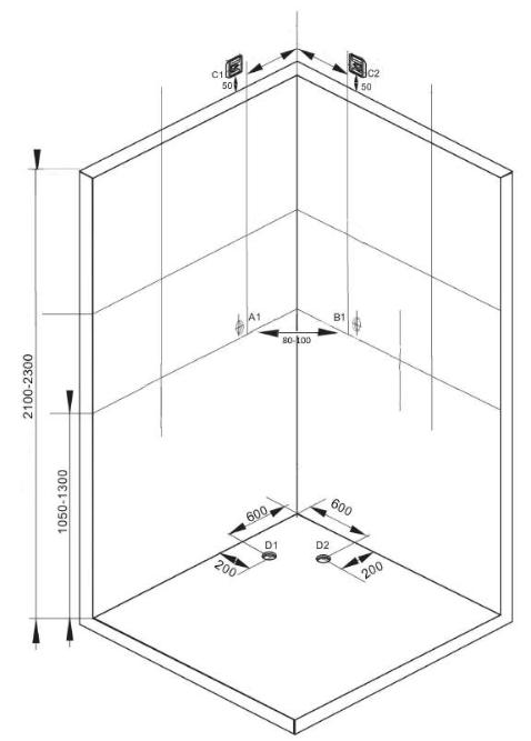 Sprchový box COMFORT 100x1000x215 (CL100)