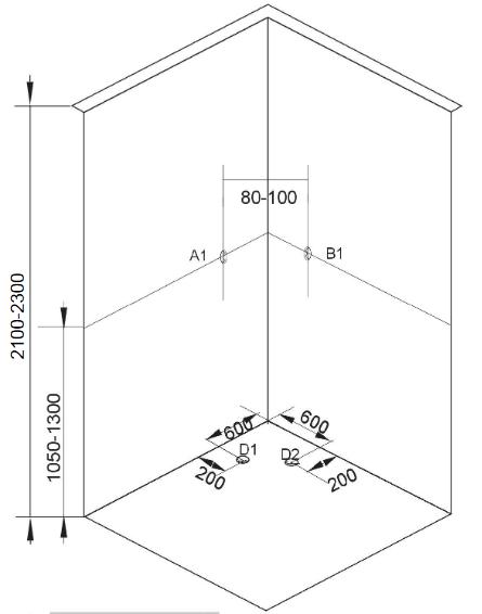 Sprchový box SCALA black 90x90x215 (CL96)