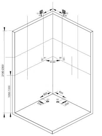 Sprchový box VITA 90x90x215 (CL97)